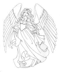 Beautiful Angel Coloring Pages For Adults Coloringstar