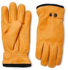 hestra utsjö fleece lined full grain leather gloves