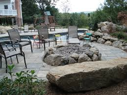 paver patio with fire pit. Beautiful Fire Avon CT Interlocking Paver Patio With Fire Pit To With