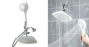 cool retractable shower head 5 function rainfall dual and handheld