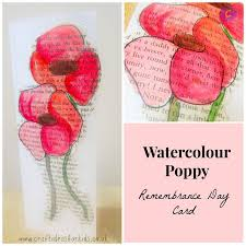 best poppy remembrance day ideas remembrance  watercolour poppy remembrance day card should do this on a copy of in flanders field