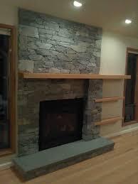 diy floating fireplace mantel shelf