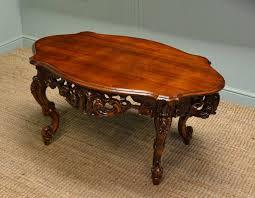 decorative victorian mahogany antique coffee table