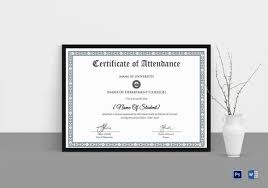 Free Printable Perfect Attendance Certificate Template Classy 48 Attendance Certificate Templates DOC PDF PSD Free