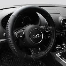 15'' <b>PU Leather</b> Car Steering Wheel Cover Sedan Black Universal ...
