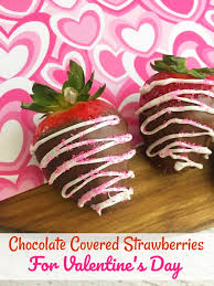 make some chocolate covered strawberries for valentine s day they are easy to make and the