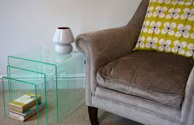 perspex furniture. Budget Acrylic Nesting Tables Glass Effect Perspex Furniture