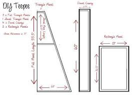 Teepee Pattern Adorable DIY Kids Teepee StepbyStep Tutorial Hometalk