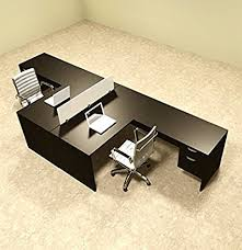 l shaped desk for two. Unique For Two Person L Shaped Divider Office Workstation Desk Set OTSULFP40 Intended For W