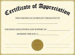 Certificate Of Appreciation Template For Word Classy Appreciation Certificate Template Metalrus