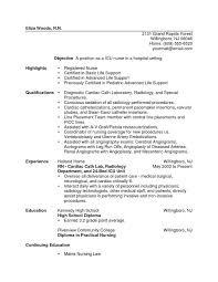 Sample Resume For Lpn New Grad