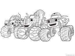 blaze and the monster machines coloring