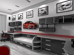 garage bedroom. decorating+a+boys+bedroom+with+a+auto+garage+ garage bedroom l
