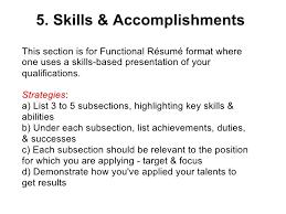 skills list on resumes