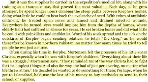 greg mortenson disgraced author of three cups of tea believes  excerpt from three cups of tea page 31 in which mortenson falsely describes spending weeks in korphe in 1993
