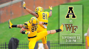 App State Wake Forest To Kick Off At 3 30 P M Appalachian State