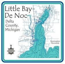 Little Bay De Noc Depth Chart Little Bay De Noc Coffee Cup Lake Gifts Lake House