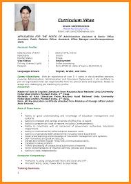 Curriculum Vitae Writing Format Pdf Tomyumtumweb Com