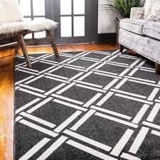 9718 black moroccan trellis contemporary area rugs