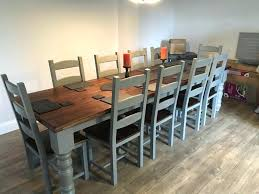 large farmhouse dining table chairs oak pine shabby chic rustic 10 seater round uk full size