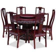 Rosewood Dining Table Rosewood Dragon Design Round Dining Table With 6 Chairs