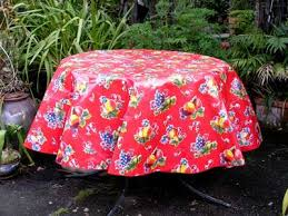 round oilcloth tablecloth