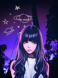 Anime Girl Purple Aesthetic Wallpapers ...