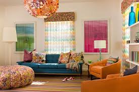 Vintage Colorful Living Room Interior Desig
