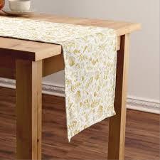mustard yellow short table runner