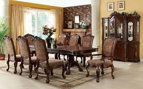 Brown Finishing Teak Solids Wood Rectangle Shaped Dinette Formal Solid Wood Formal Dining Room Sets