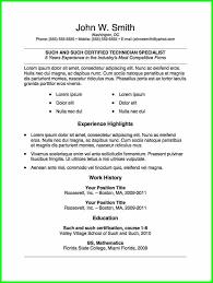 Microsoft Word Resume Template 2010 292937 Free Resume Templates