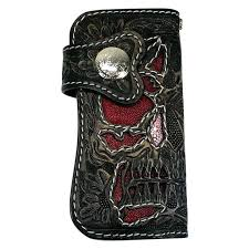 tooled leather wallet womens hand wallets