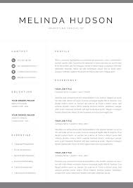 Modern Resume Template For Word Mac Pages Professional 1 2