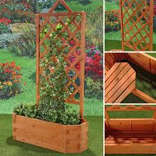 Rankkasten Mit Rankgitter Holz Rankhilfe Blumenkasten