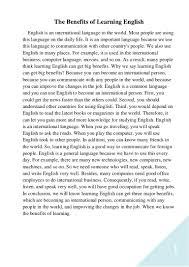 benefits of english language essay band 8 essay sample advantages of english as a global language