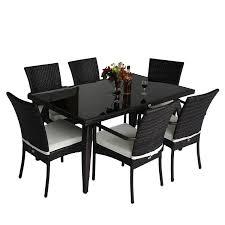 beautiful homcom rattan garden furniture aluminum dining set patio outdoor chairs