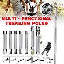 Portable Multifunction <b>Trekking Pole Walking</b> Camping Outdoor ...