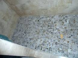stone shower floor tile how to clean pebble stone shower floor decoration pebble shower floor cloud