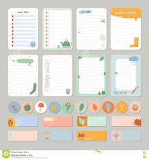 Daily List Templates Cute Daily Calendar And To Do List Template Stock Image Image Of 21