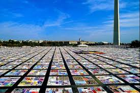 See the AIDS Quilt in NYC for First Time in a Decade - Governors ... & A portion of the AIDS Memorial Quilt, pictured here in Washington, D.C.,  will Adamdwight.com