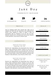 clean resume template download for word gemresume media resume template