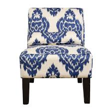 blue and white accent chair nj