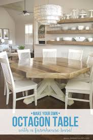 DIY Octagon Dining Room Tablewith a farmhouse base! (Make It and Love It)