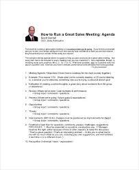 Sales Meeting Template Free Agenda Sales Meeting Agenda