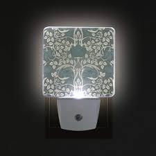 Bathroom Led Night Lights 2 Pc Plug In Led Night Lights With William Morris