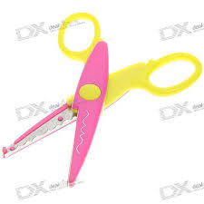 Pattern Scissors Beauteous Plastic Metal Craft Flower Pattern Scissors 48PackColor