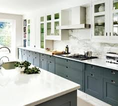 grey cabinets with white countertops gray cabinets herringbone tile walnut farmhouse sink kitchen