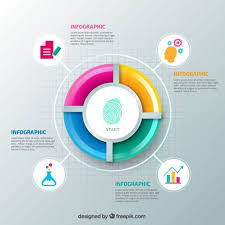 Colorful Pie Chart Template Vector Free Download
