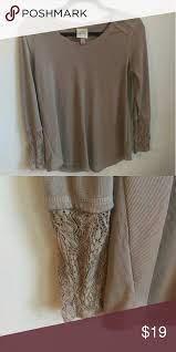 Tan Knox Rose sweater | Rose sweater, Knox rose, Lace sleeves