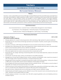 Unless the job application indicates otherwise, submit your resume as a pdf. Restaurant General Manager Resume Example Guide 2021 Zipjob